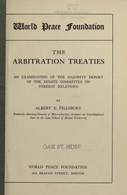 Cover of: The arbitration treaties