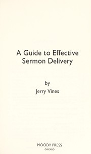 Cover of: A Guide to Effective Sermon Delivery