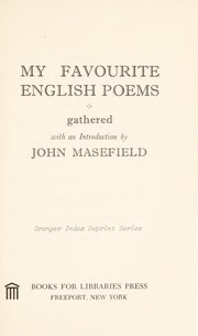 Cover of: My favourite English poems