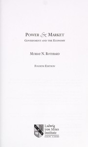 Cover of: Power & market