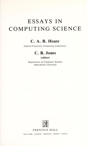 Essays in computing science by C. A. R. Hoare