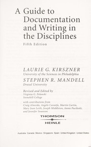 Cover of: A guide to documentation and writing in the disciplines