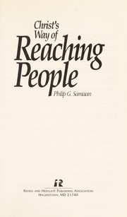Cover of: Christ's way of reaching people