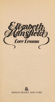 Cover of: Love Lessons | Elizabeth Mansfield