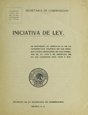 Cover of: Iniciativa de ley