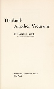 Cover of: Thailand, another Vietnam?