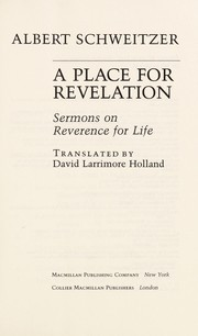 Cover of: Place for Revelation