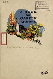 Cover of: A book for garden lovers | Max Schling, Inc