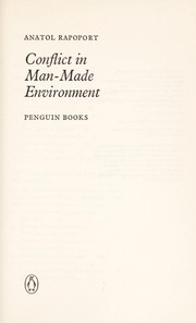 Cover of: Conflict in man-made environment