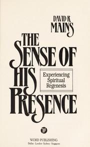 Cover of: The sense of His presence