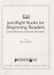 Cover of: Just-right books for beginning readers