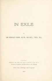 Cover of: In exile