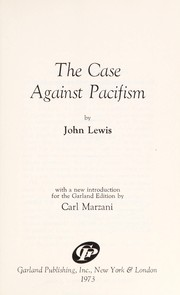 Cover of: The case against pacifism