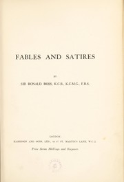 Cover of: Fables and Satires | Ross, Ronald Sir.