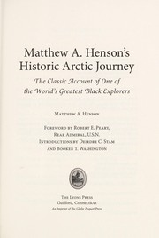 Cover of: Matthew A. Henson's historic Arctic journey