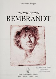 Cover of: Introducing Rembrandt | Alexander Sturgis