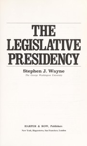 Cover of: The legislative Presidency