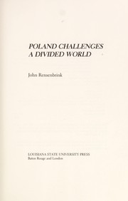 Cover of: Poland challenges a divided world