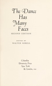 Cover of: The dance has many faces
