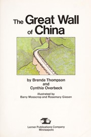Cover of: The great wall of China
