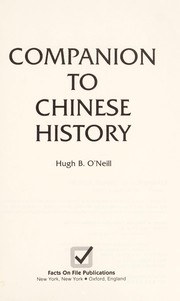 Cover of: Companion to Chinese history