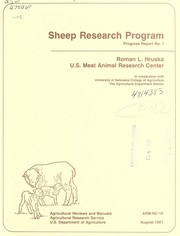 Cover of: Sheep research program | Roman L. Hruska U.S. Meat Animal Research Center