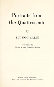 Cover of: Portraits from the Quattrocento