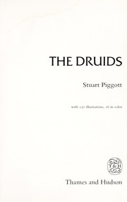 The Druids by Piggott, Stuart.