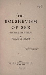 Cover of: The Bolshevism of sex