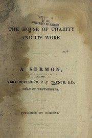 Cover of: The House of Charity and its work