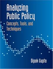 Cover of: Analyzing Public Policy | Dipak K. Gupta
