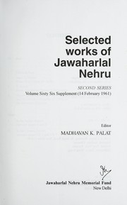 Cover of: Selected works of Jawaharlal Nehru | Jawaharlal Nehru