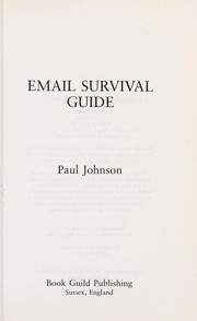 Cover of: Email survival guide