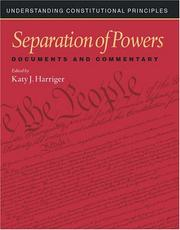 Cover of: Separation of Powers
