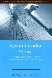 Cover of: System Under Stress | Donald F. Kettl