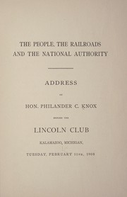 Cover of: The people, the railroads and the national authority'