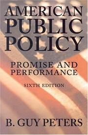 American public policy by B. Guy Peters