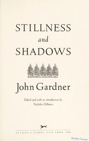 Cover of: Stillness ; and, Shadows