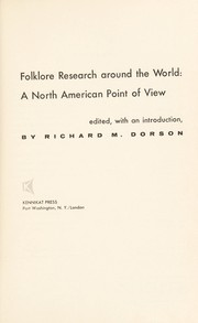 Cover of: Folklore research around the world