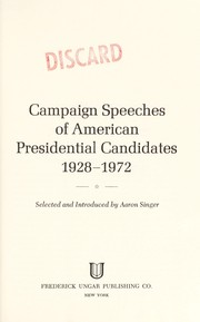 Cover of: Source book of American presidential campaign and election statistics, 1948-1968