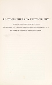 Cover of: Photographers on photography | Nathan Lyons