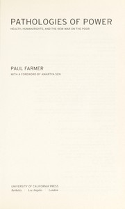 Cover of: Pathologies of power | Paul Farmer