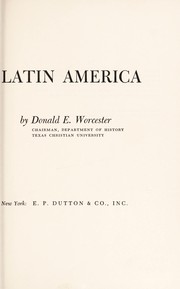 Cover of: The three worlds of Latin America