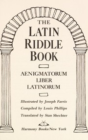 Cover of: The Latin riddle book =