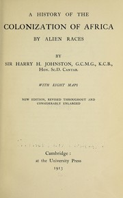 Cover of: A history of the colonization of Africa by alien races | Harry Johnston