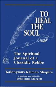 Cover of: To heal the soul