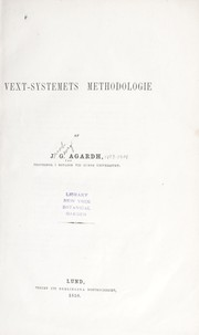Cover of: Vext-systemets methodologie