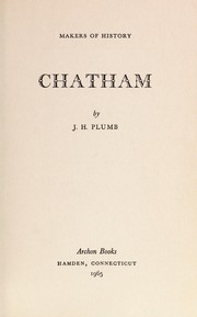 Cover of: Chatham | J. H. Plumb