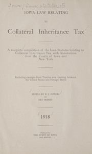 Cover of: Iowa law relating to collateral inheritance tax | Iowa.