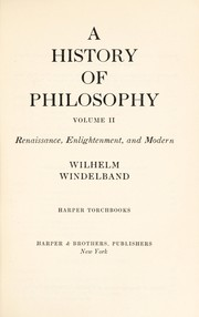 Cover of: A history of philosophy. --
